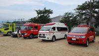 消防車やパトカー展示